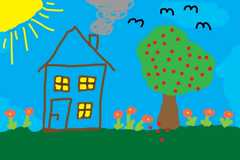 ציור של בית